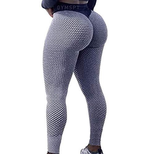 ZHURGN Pantalones de yoga de cintura alta para mujer, leggings sin costuras, lagunas de elevación de tope de scrunch, para mujeres Levantamiento de tope aclaro ruchado Leggings de tope de entrenamient