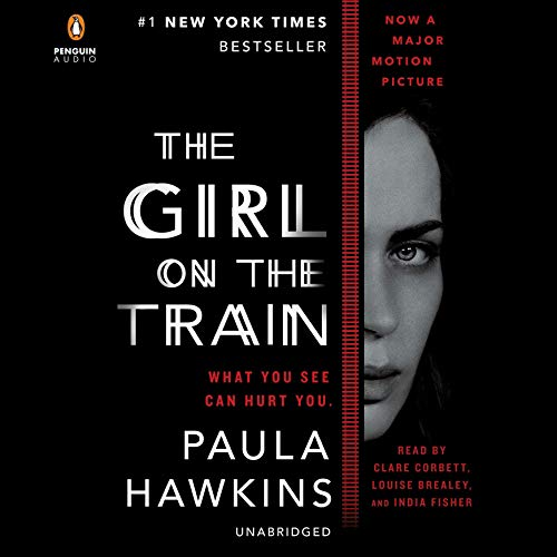 The Girl on the Train     A Novel              By:                                                                                                                                 Paula Hawkins                               Narrated by:                                                                                                                                 Clare Corbett,                                                                                        Louise Brealey,                                                                                        India Fisher                      Length: 10 hrs and 58 mins     133,246 ratings     Overall 4.4