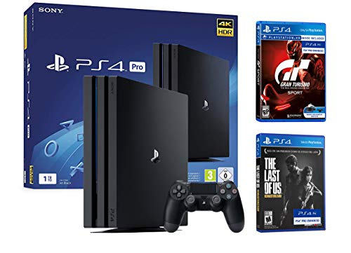PS4 Pro 1To Playstation 4 Pack Gran Turismo Sport GT Sport + The Last of Us Remastered HD