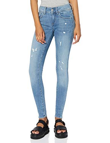 G-STAR RAW Damen Lynn D-Mid Waist Super Skinny Jeans, Blau (Lt Aged Destroy 9136-1243), 26W / 30L