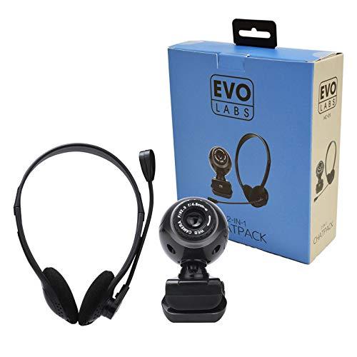 Evo Labs HC-01 Webcam y auriculares de 3,5 mm Chatpack