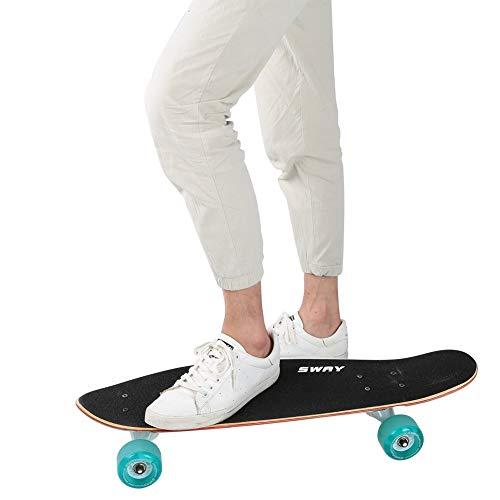 Junluck Street Skateboard Tragbares Skateboard Board Langes Skateboard Günstiges, langlebiges Skateboard für Teenager(Call)