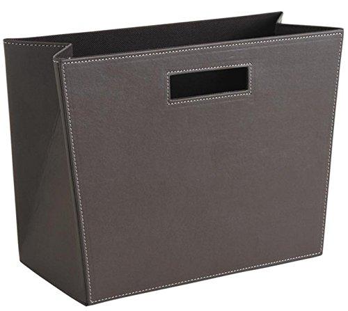 PEGANE Porte-revues rectangulaire en Polyuréthane Taupe, 36 x 16 x 25 cm