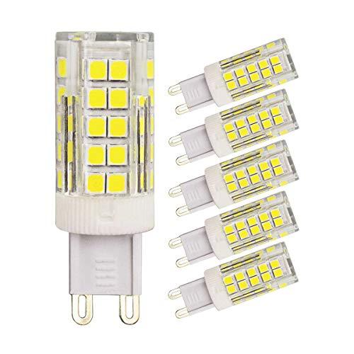 5 Pack G9 LED Lampen Dimbaar 4W Equivalent aan 45W 40W 35W Halogeen Gloeilamp Daglicht Wit 6000k 400 Lumen 220V 230V Energiebesparing G9 Bi Pin Voetstuk Lichten