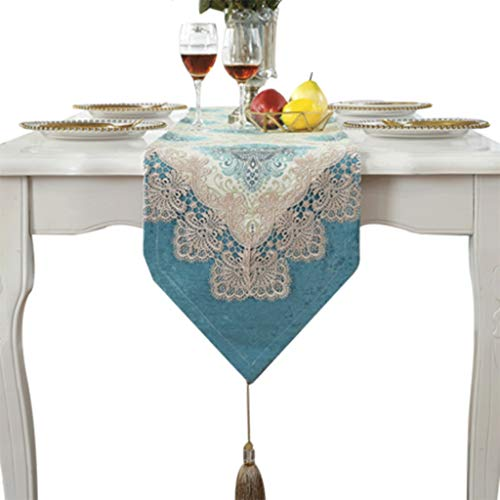 Tafelloper Lace High Precision Jacquard stof Dik Servet Chic Wedding Festival tablewear Decor Tafelkleed-4.13 (Size : 33 * 280cm)