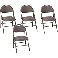 4-Pack Cosco Commercial Comfort Back Fabric Folding Chair