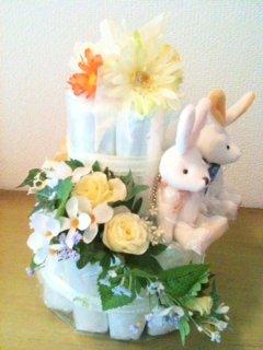 おむつケーキ 2段 男女双子ちゃん おしゃれセンスが良い 出産祝い 結婚祝 人気ナンバーワン (パンパースSサイズ)