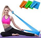 Lifreer 3PCS Yoga Belts Resistance Bands Set, Long Exercise Bands for Arms, Shoulders, Legs, Butt, Workout Stretch Bands for Physical Therapy, Gym