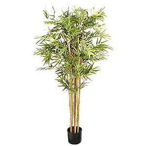 Nearly Natural 5′ Bambusa Bamboo Silk Artificial Trees, 60in, Green