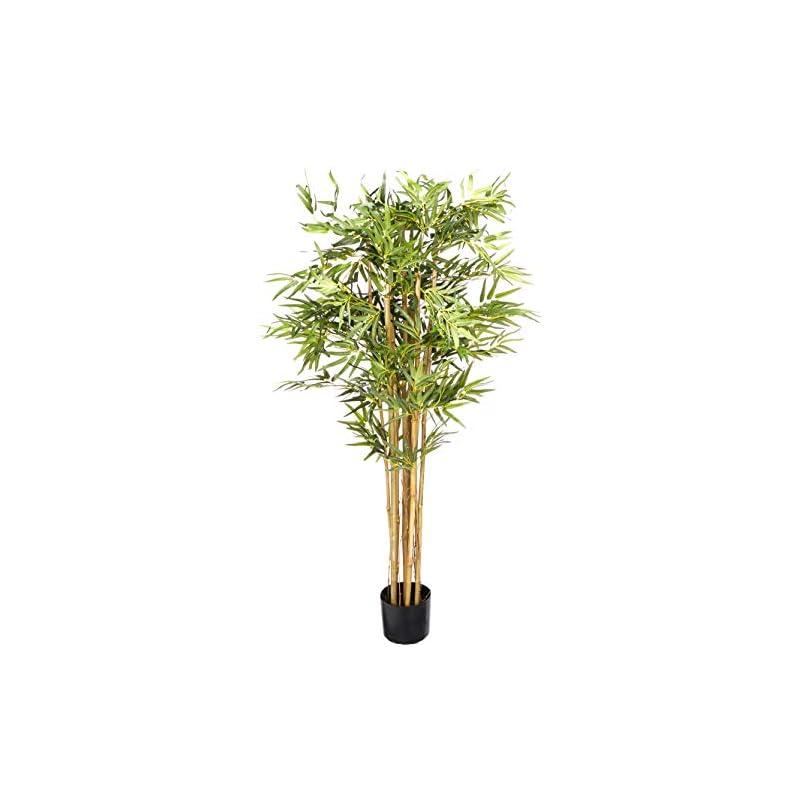 silk flower arrangements nearly natural 5' bambusa bamboo silk artificial trees, 60in, green
