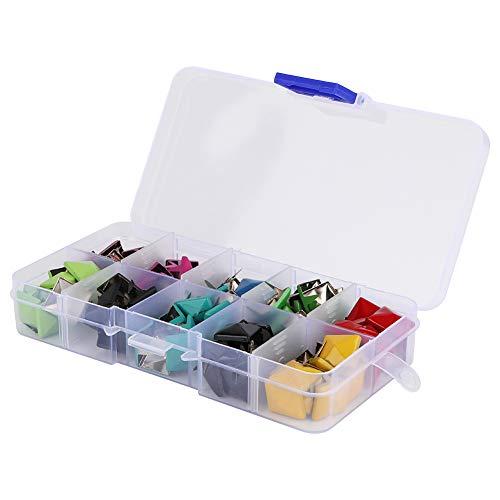 Clavos de tachuelas, 12 mm de ancho, decoración de tachuelas de aplicación, metal de color aleatorio para zapatos, ropa