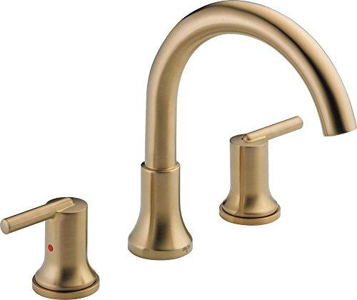 Delta Faucet T2759-CZ Trinsic, 3-hole Roman Tub Trim, Champagne Bronze,10.00 x 12.00 x 10.00 inches