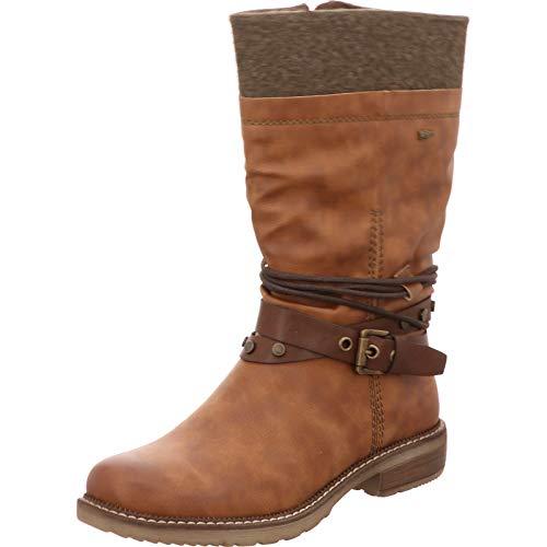 Relife Damen Stiefel mit Tex, Reißverschluss und Warmfutter 14811B-44R Cognac (39 EU)