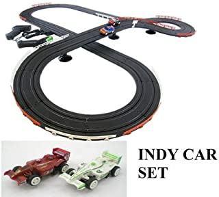 JJ_TOYS Indy Style Slot Car Track Ho Scale Race Set New and Improved 2019