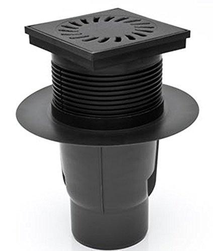 MCH Hofablauf mit Gußeisenrost Belastung bis 1500 kg DN 110 150x150 mm 327 S Li