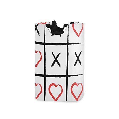 COFEIYISI Cesto para la Colada,XO Humor Love Hobby Símbolos Imprimir,Plegable Cestas Bolsas Almacenamiento para Colada Cestos para Juguete Ropa Sucia
