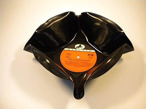Schale, Schüssel aus original Vinyl Schallplatte Upcycling Obstschale