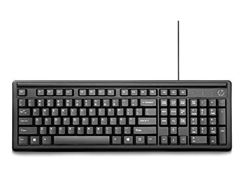 HP 100 Teclado, color negro, versión en español