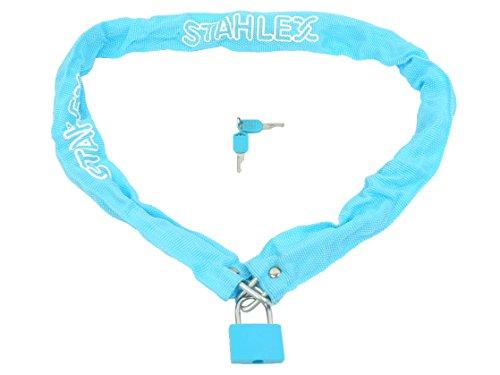 STAHLFLEX fiets kettingslot, met hangslot (turquoise)