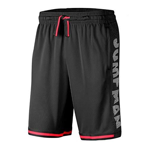 Nike M J Jumpman Hbr Bball Shorts für Herren M Schwarz/Schwarz/Weiß/Rot (Black/Black/White/Infrared 23)