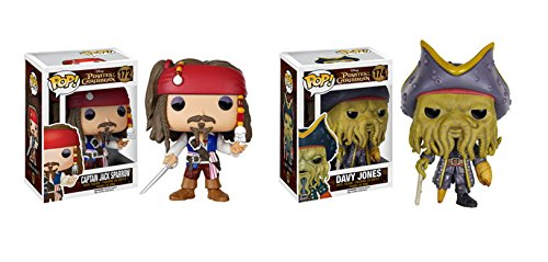 Funko POP! Pirates Of The Caribbean: Jack Sparrow + Davy Jones - Vinyl Set NEW