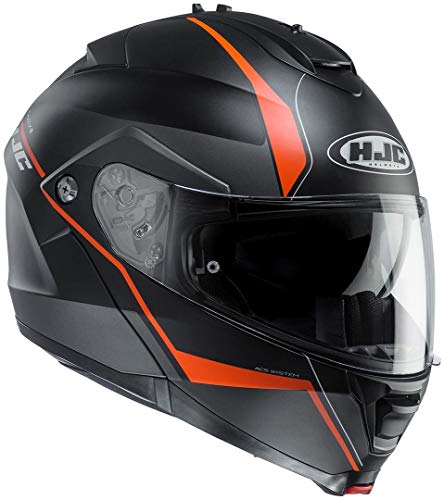 HJC IS-MAX II Mine Klapphelm XXL (63/64) Schwarz Matt/Orange