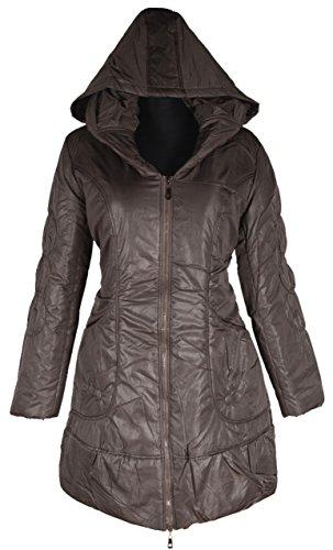 Italy Donna dames lagenlook ballon winter capuchon jas parka mantel warm 38 40 42 44 46 48 50 S M L XL XXL beige winterjas anorak