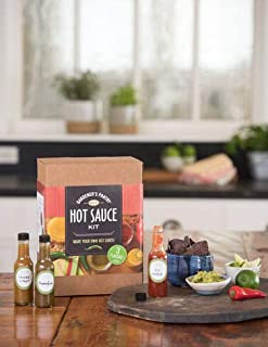 DIY Homemade Hot Sauce Making Kit for Red Pepper, Jalapeno and Smoked Citrus Hot Sauces