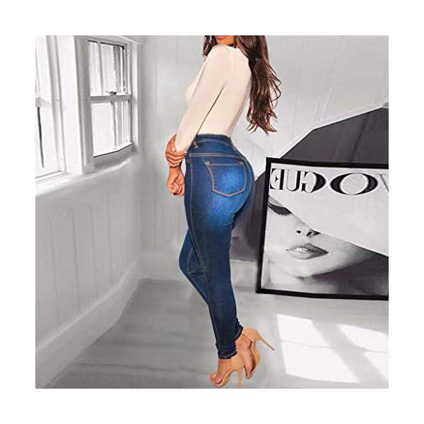 Women's Slim Fit Denim Pants Comfy Stretch Skinny Jeans 4