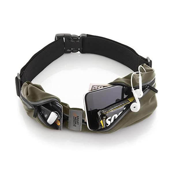 sport2people Running Belt USA Patented – Hands-Free Workout Fanny Pack –...