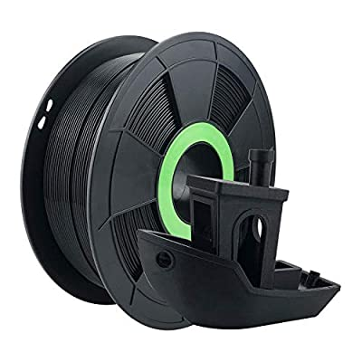 ZIRO PLA Filament 1.75mm,3D Printer Filament PLA PRO Basic Color Series 1.75MM 1KG(2.2lbs), Dimensional Accuracy +/- 0.03mm, Black