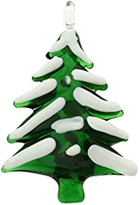 GlassOfVenice Adorno de árbol de Navidad cubierto de cristal de Murano