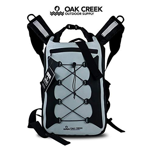 Oak Creek Canyon Falls 30L Dry Bag Backpack. Premium Waterproof Backpack with Padded Shoulder Straps. PVC Construction. Keep Your Gear Dry