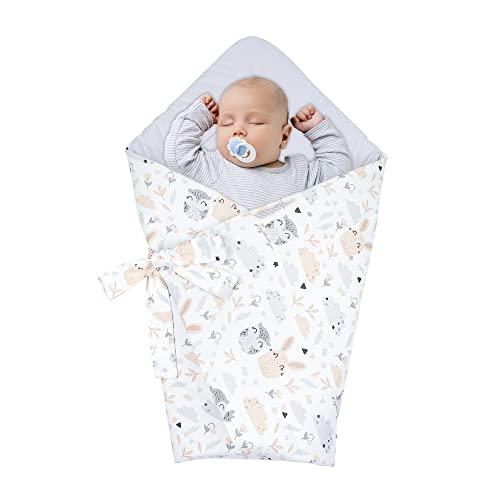 Saco de Dormir para bebé de - Manta de niño pequeño de Dormir, Todo el año, Saco Reversible para Envolver Búhos - Algodón Gris
