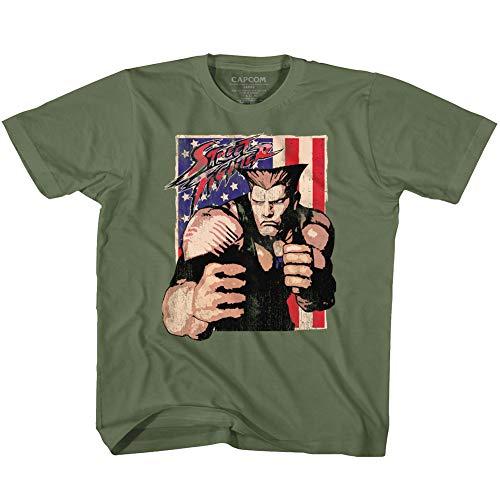 Street Fighter - - T-Shirt Unisexe-bébé Guile avec Drapeau, 2T, Military Green