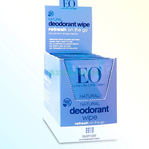 Eo Deodorant Wipe,Og2,Lavender 1 Ea (Pack Of 24)