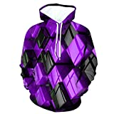 SERYU Men's 3D Funny Jacket Long Sleeve Hooded Coat Hoodie Blouse Tops Purple