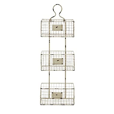 Deco 79 Metal Basket Shelf, 13 by 37-Inch