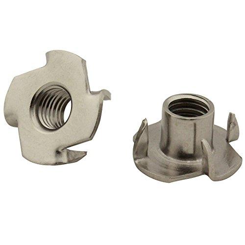 5 Stück Einschlagmuttern (mit 4 Einschlagspitzen) - M6 - rostfreier Edelstahl A2 (V2A) - SC9105 | SC-Normteile