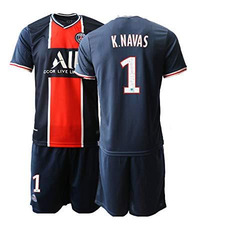 JEEG 20/21 Herren K.Navas 1# Fußball Trikot Fans Jersey Trainings Trikots (S)
