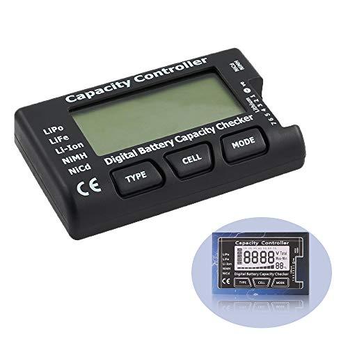 YIXISI Smart Digital Batterie Kapazität Checker, Digital Mini Batterie Kapazitaet Checker, fuer LiPo, LiFe, Li-Ion, NiMH, Nicd, RC Akkus
