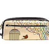 Estuche organizador para lápices con forma de jaula de pájaros en el árbol musical, gran capacidad, para la escuela, adolescentes, niños, niñas, hombres y mujeres
