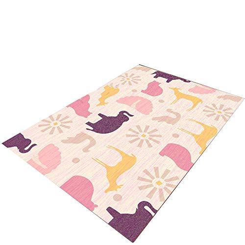 JIAL Plüsch Teppiche Schutzboden, Teppichboden mit Rutschfester Unterseite (Größe: 140 × 200 cm) Chongxiang (Size : 140×200cm)