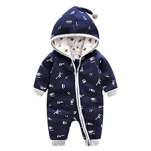 Bebone Baby Strampler Jungen Mädchen Overall Babykleidung (Blau, 9-12Monate/73cm)