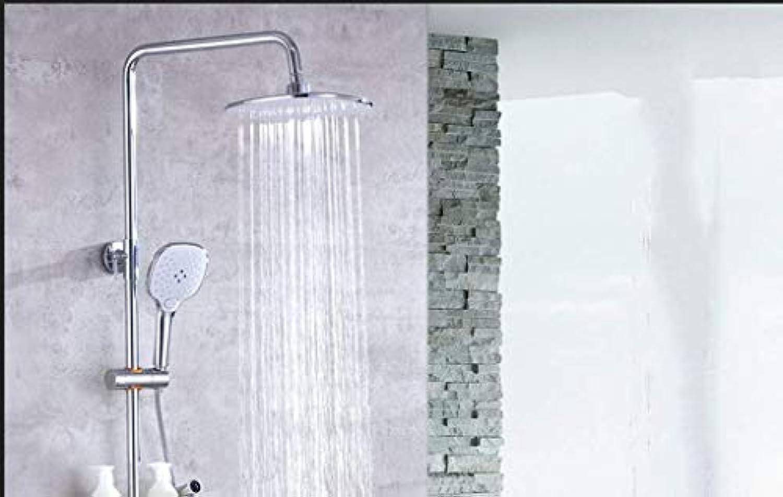 GWFVA Badezimmer-Brausebatterie, Brausebatterie, warm und kalt, vollkupferfarben, Mischbatterie, Handbrause, Kompressor, Regendusche