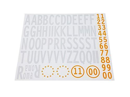 4R Quattroerre.it - 1203 - Kit Lettere Adesive Targa, Provincia + Anno