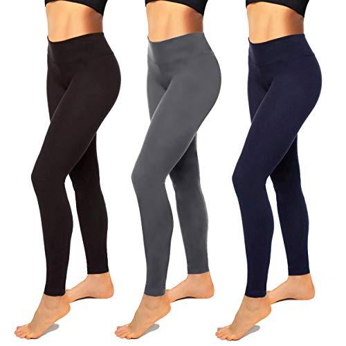 High Waisted Leggings for Women-Womens Black Seamless Workout Leggings Running Tummy Control Yoga Pants(S-M)