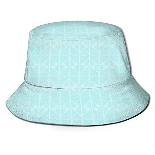Yearinspace Unisex moda cubo sombrero verano pescador Cap s cocina azulejos vintage azul claro pequeña escala para adultos hombres mujeres adolescentes