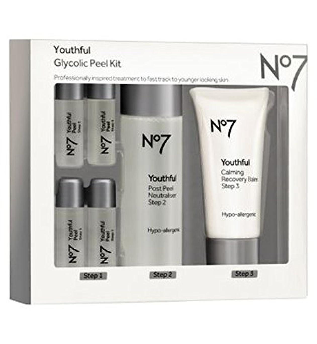 フィットがっかりする固体No7 Youthful Glycolic Peel Kit - No7若々しいグリコールピールキット (No7) [並行輸入品]