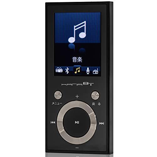 グリーンハウス KANABT Bluetooth4.1 MP3プレーヤー microSD対応 FMラジオ/ボイスレコーダー搭載 16GB内蔵 ブラック GH-KANABT16-BK